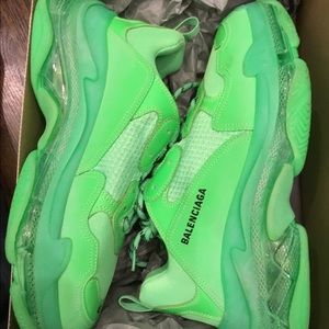 Men's Balenciaga Fluorescent Green sz 46